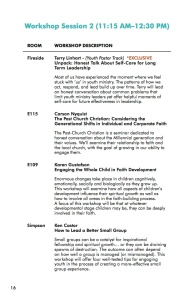 NEXT Conference 2014 Workbook Session 2-1